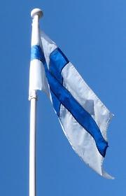 Suomen lippu/Finlands flagga..