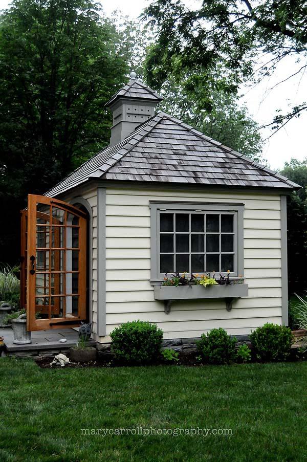 practica caseta de jardin de madera