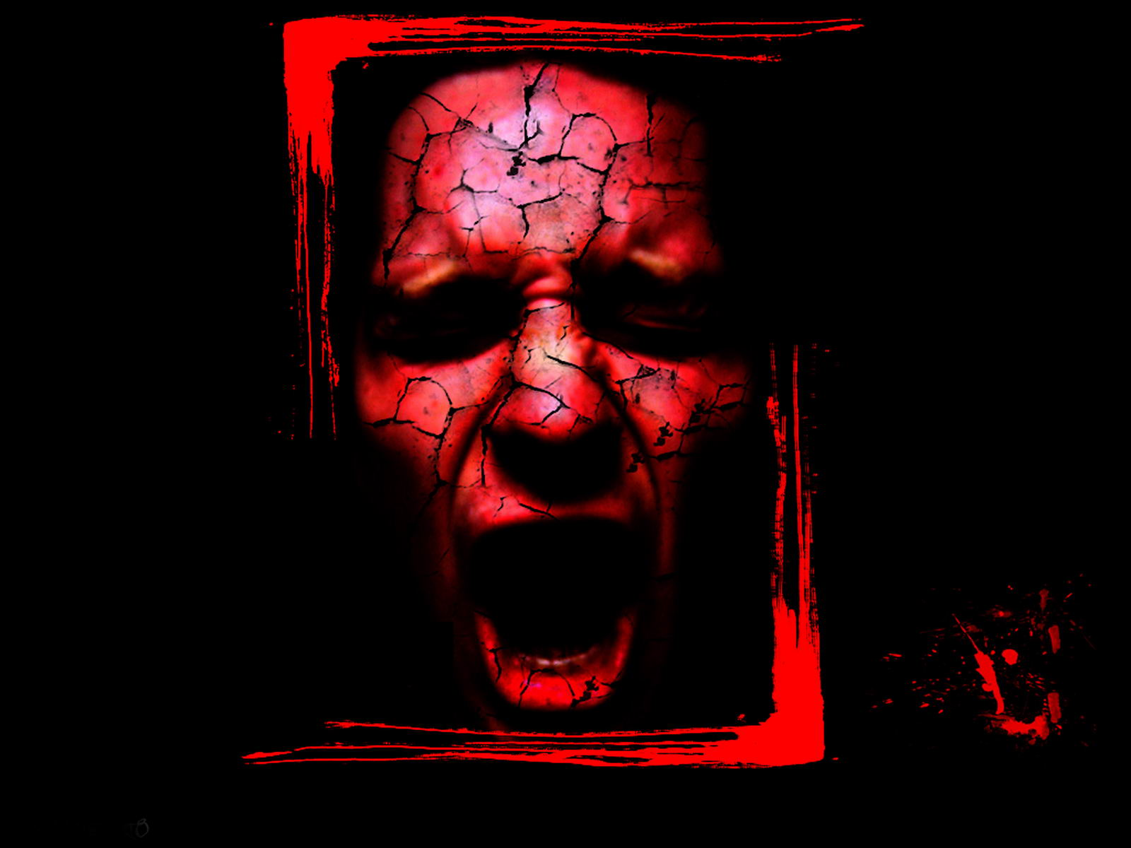Scary wallpaper red grunge scary wallpaper