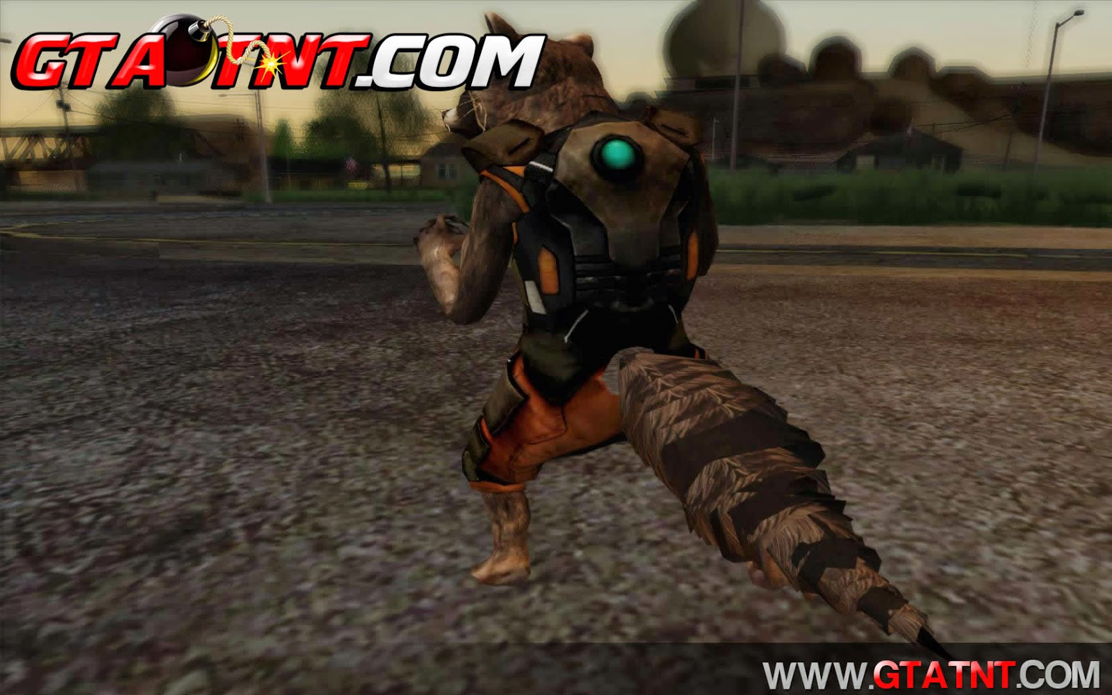 Skin Rocket Raccoon Guardi�es da Gal�xia para GTA San Andreas