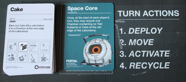 Portal board game - Aperture and character cards