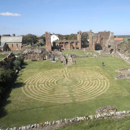 Lindisfarne Priory Maze