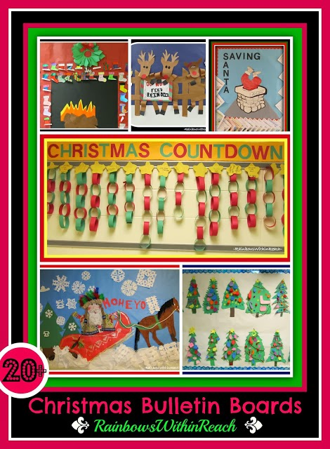 Christmas Bulletin Boards via RainbowsWithinReach
