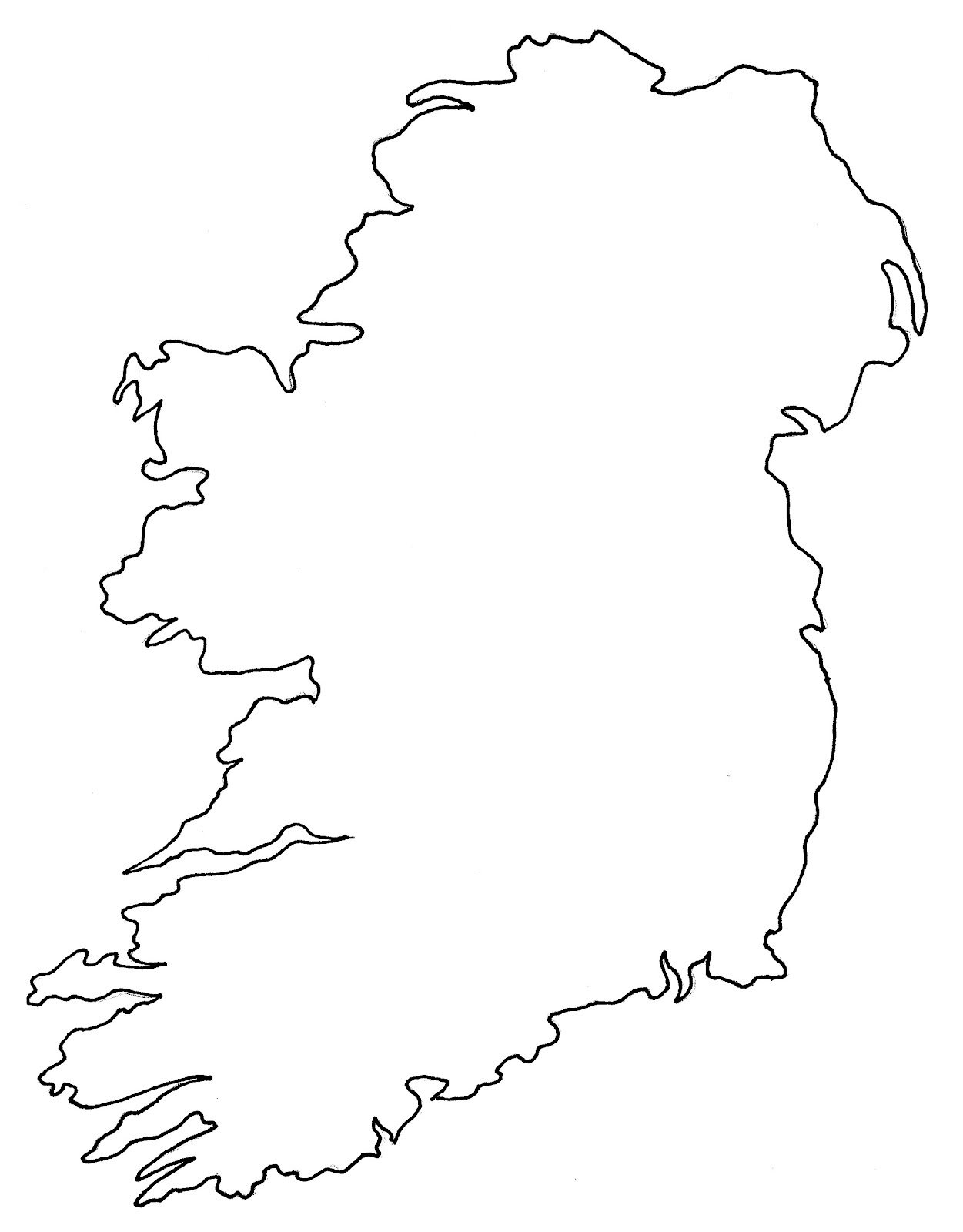 Ireland Blank Map Ireland Map Geography Political City