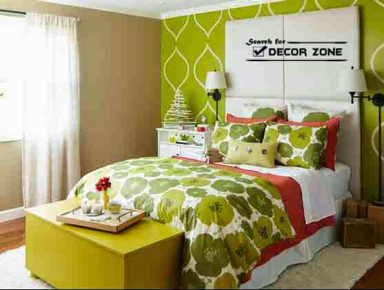 small bedroom paint colors green withe