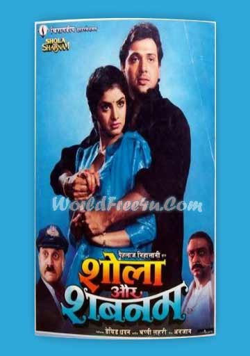 Poster Of Bollywood Movie Shola Aur Shabnam (1992) 300MB Compressed Small Size Pc Movie Free Download worldfree4u.com