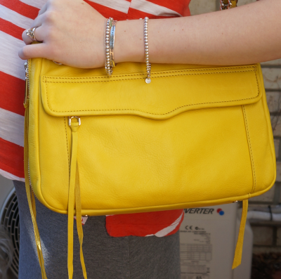 Rebecca Minkoff swing handbag bright yellow