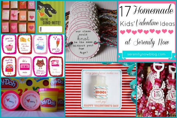 Homemade Valentine Ideas for Kids, Serenity Now blog