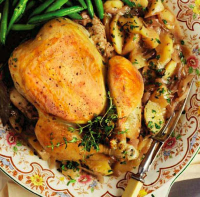 Cider and Apple Pot Roast Chicken