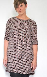 DIY damesjurk, naaien, sewing, rechte jurk