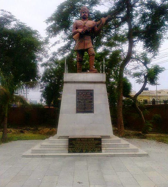Statue of Mangal Pandey at Martyr's Memorial in Meerut