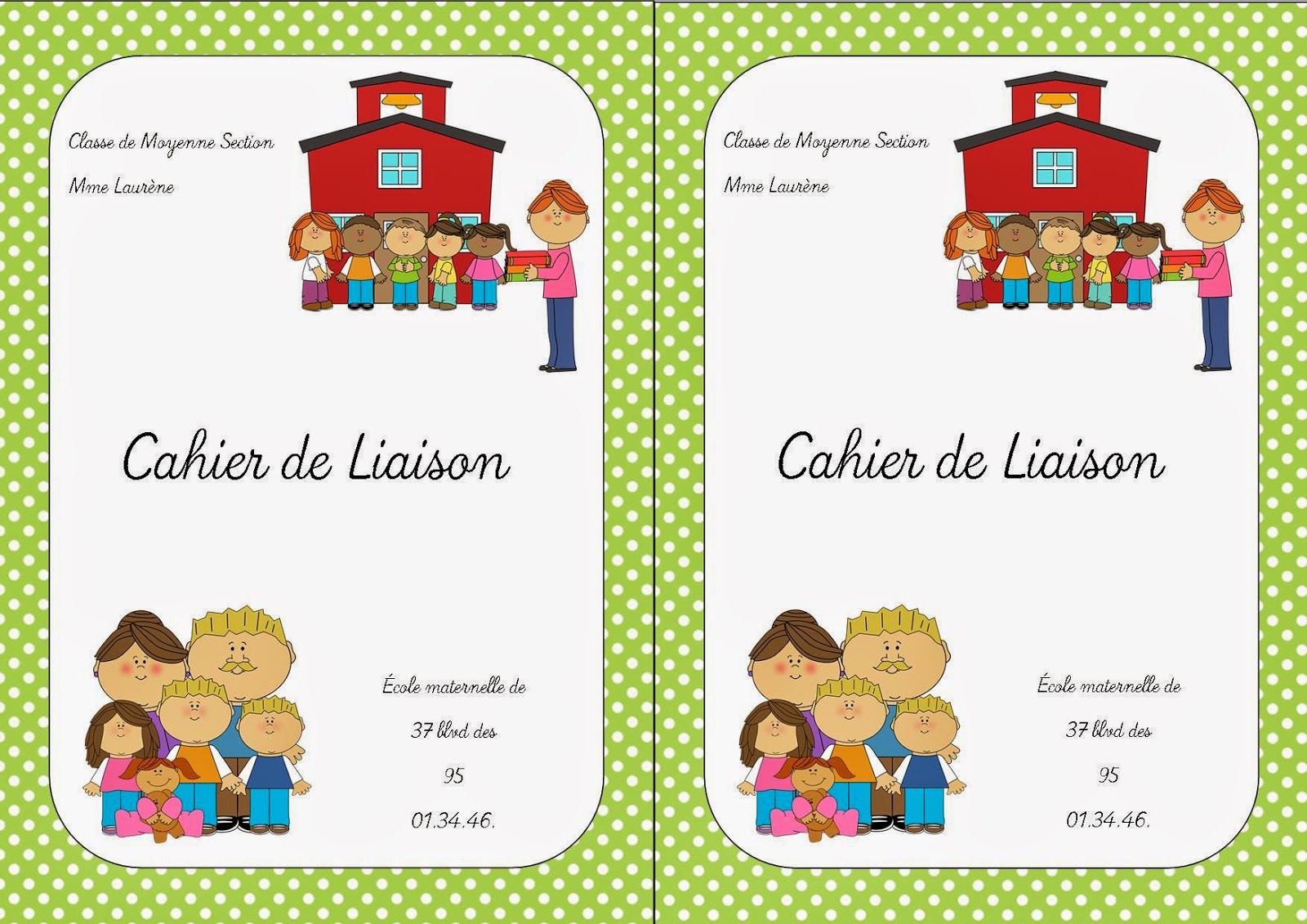 cahier maternelle