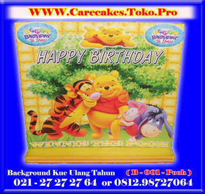 background kue ulang tahun kode b 001 pooh background kue