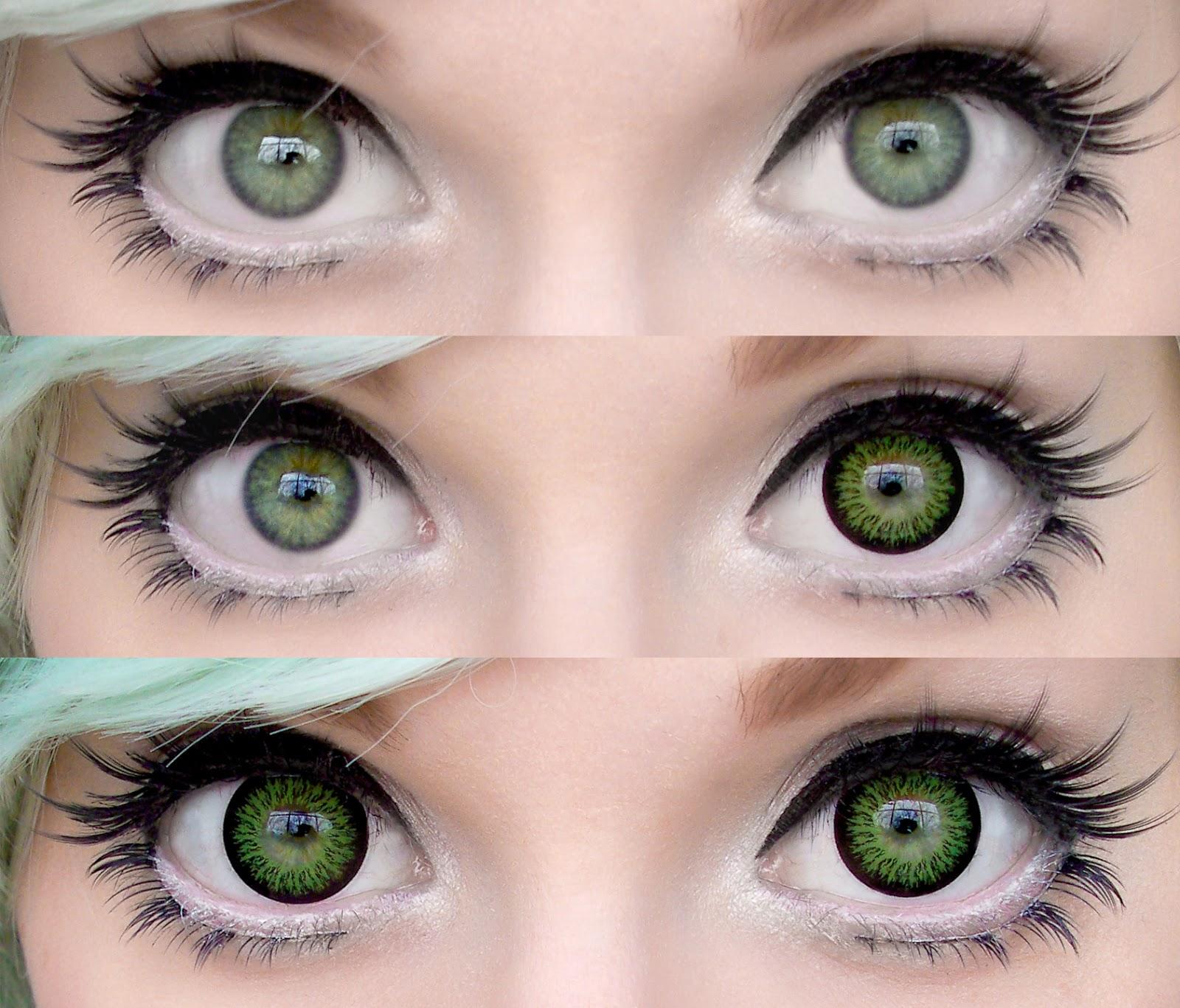 Как сделать глаза зеленей без линз
