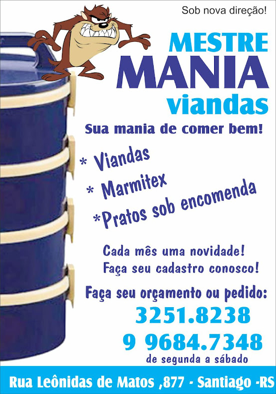 Mestre Mania Viandas!