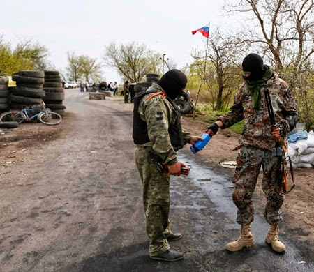Kontak Senjata Terjadi di Pos Pemeriksaan Slaviansk
