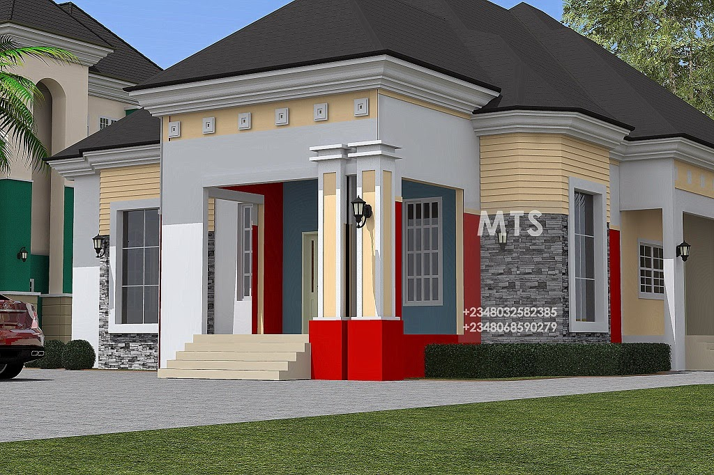 4 bedroom bungalow residential homes and public designs for 4 bedroom house designs in nigeria