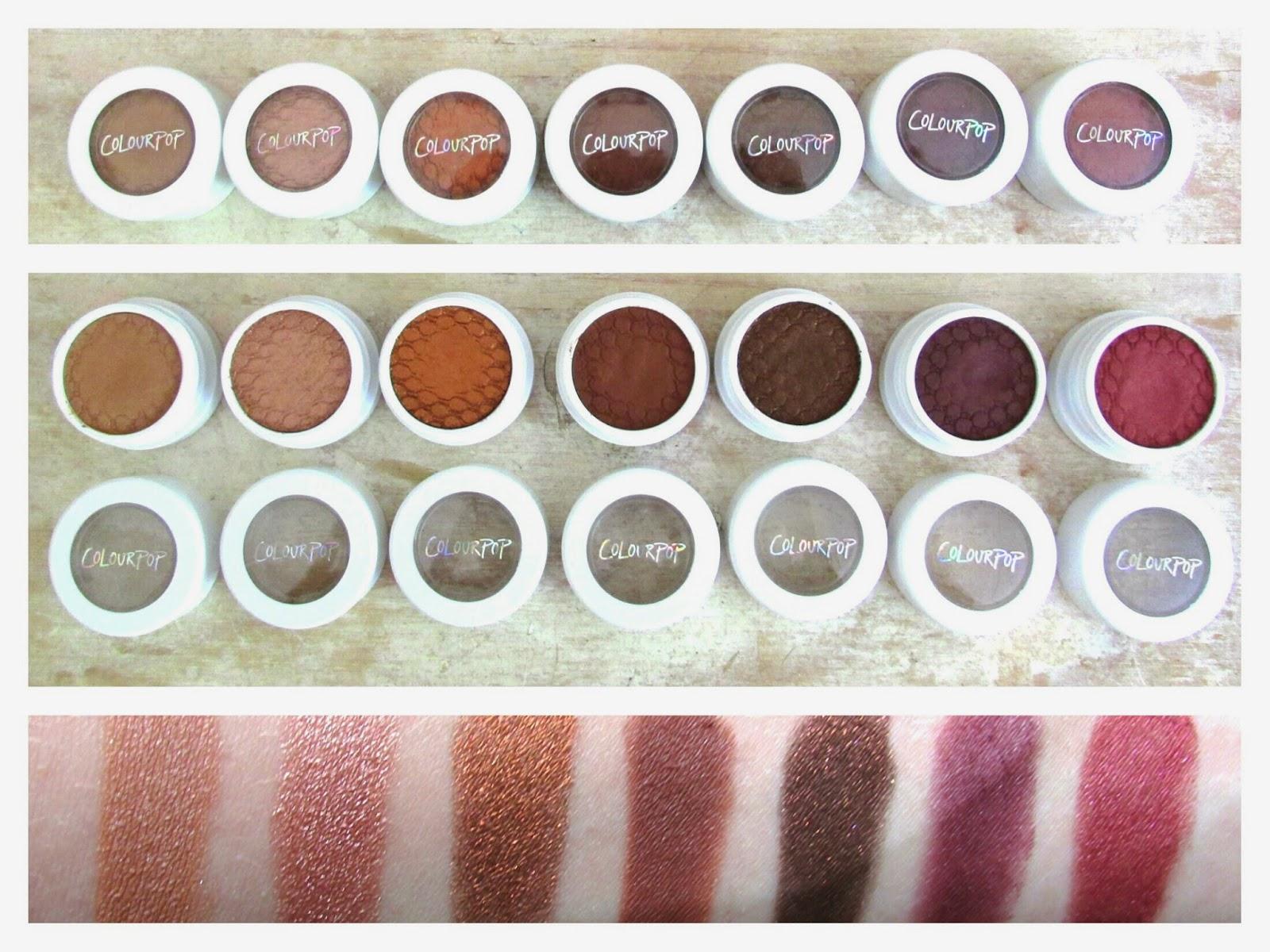 colourpop, colourpop cosmetics, colourpop eyeshadows