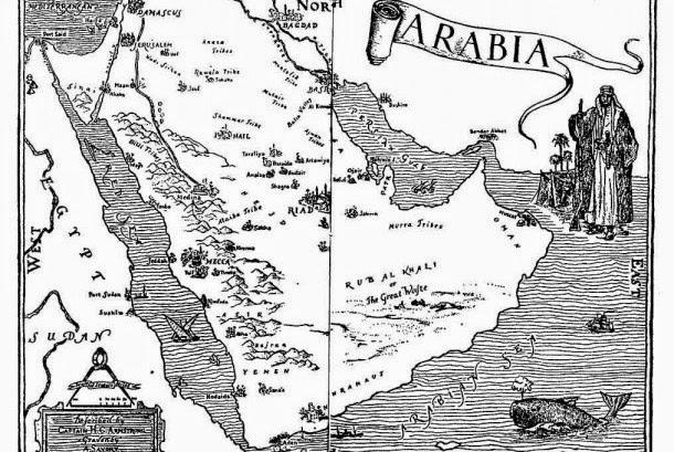 Peta Jazirah arab 3 in 1 Negara Arab