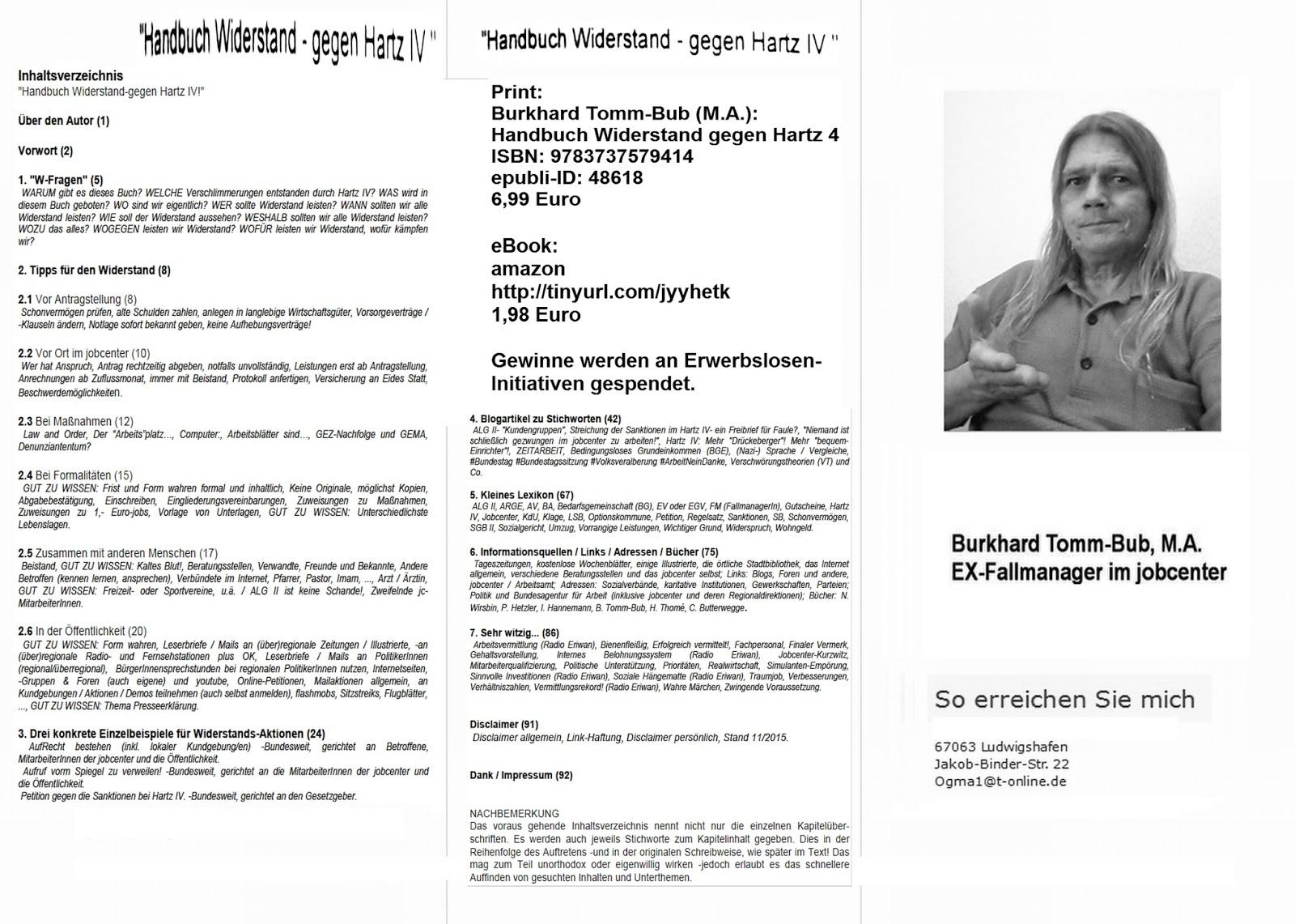 Handbuch Widerstand - gegen Hartz IV: FAQ Buch / Aktion