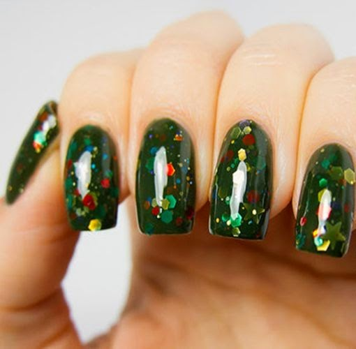 Christmas tree nails green christmas nails for girls glitter christmas tree nails