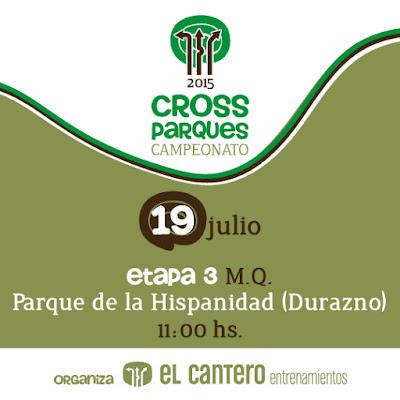 Cross Parque de la Hispanidad de El Cantero (Durazno, 19/jul/2015)
