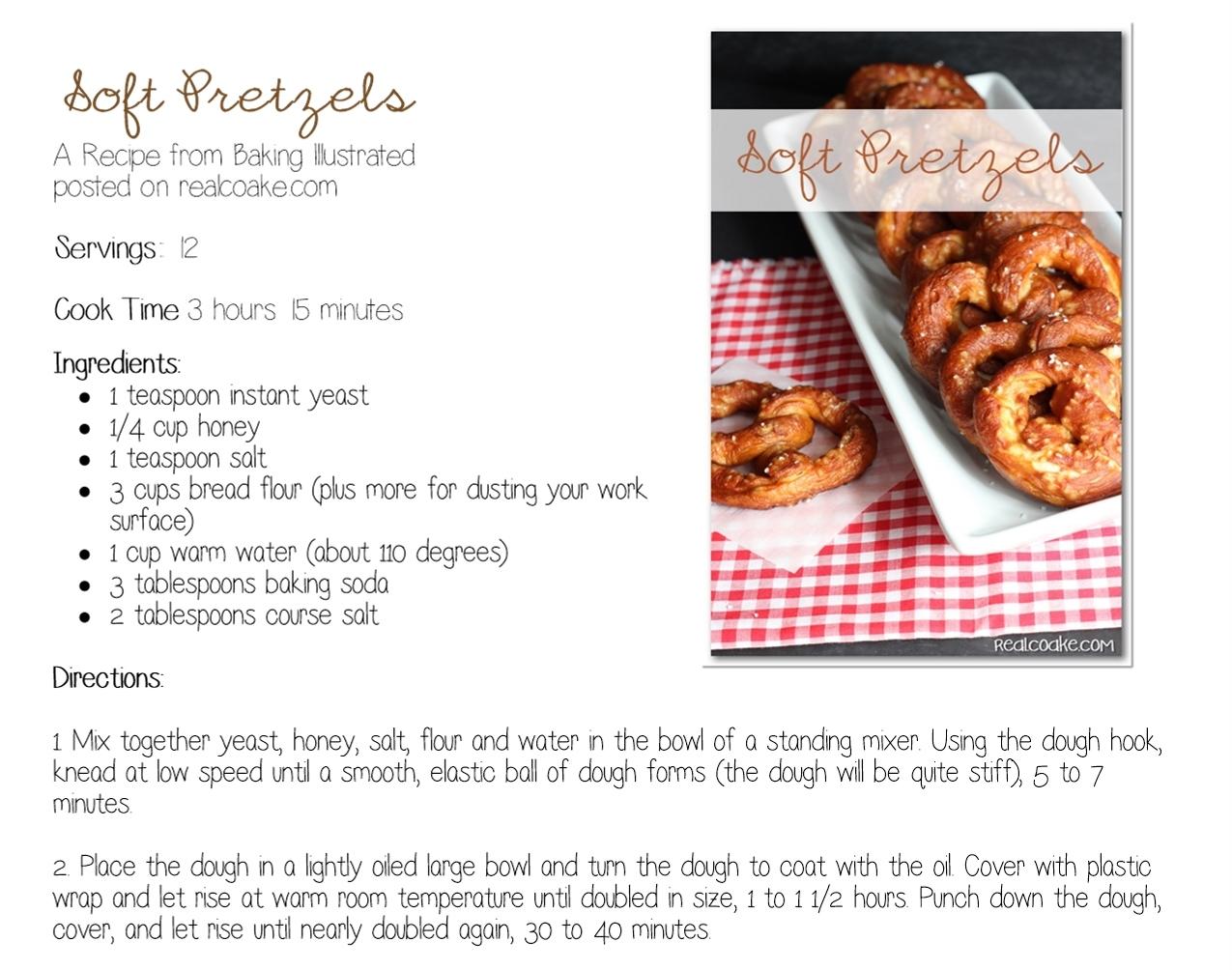 Yum Yum Soft Pretzel Recipe