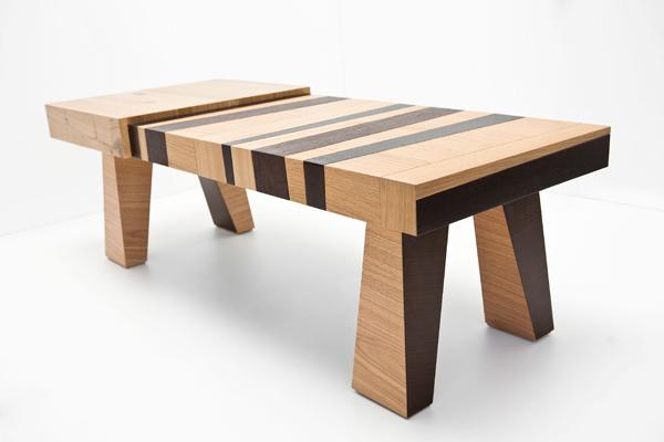 Mesas de dise o con madera reciclada espacios en madera for Disenos de mesas de madera