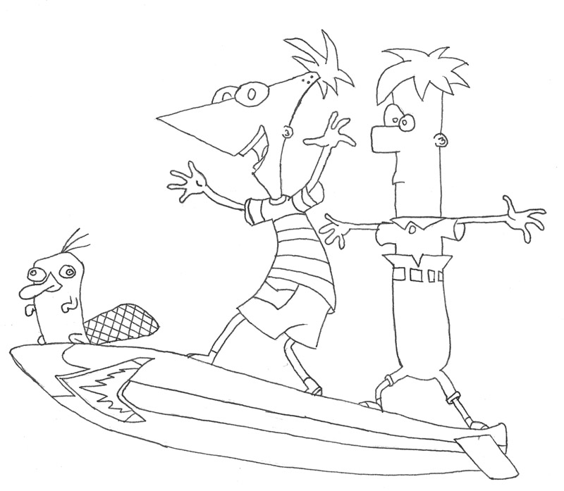Phineas And Ferb Vanessa Coloring Pages