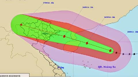 Công điện khẩn của thủ tướng Chính Phủ về cơn bão số 3 (Kamaegi)