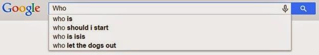 Who Google AutoSuggest