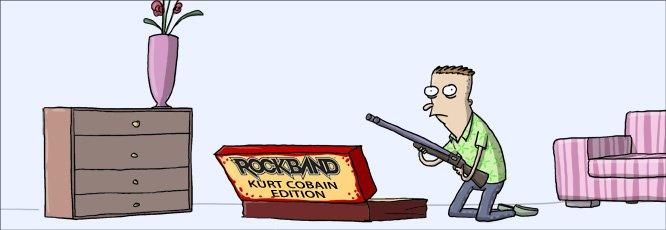 Rock Band Kurt Cobain edition.
