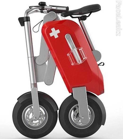 Sepeda Listrik Mirip Pisau Lipat Swiss Army