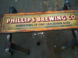 shawn trusty o keefe panting gold leaf mirror north america phillips brewery traditional signage dobell designs