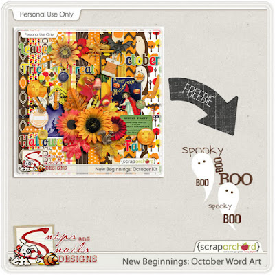 New Beginnings: October Freebie by Snips and Snails Designs