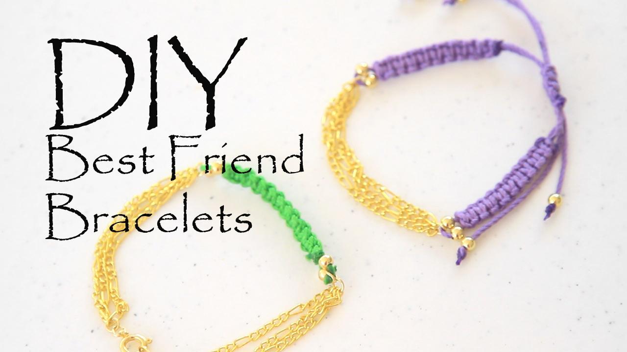diy dainty best friend bracelet le style