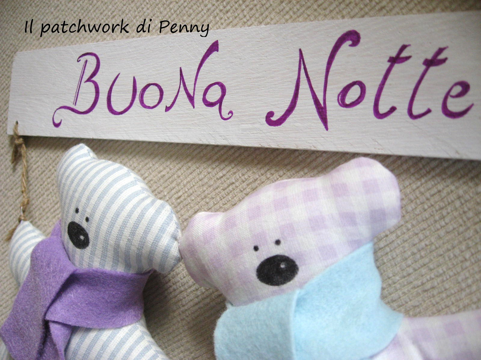 foto de Il patchwork di Penny: Buonanotte buonanotte orsettino