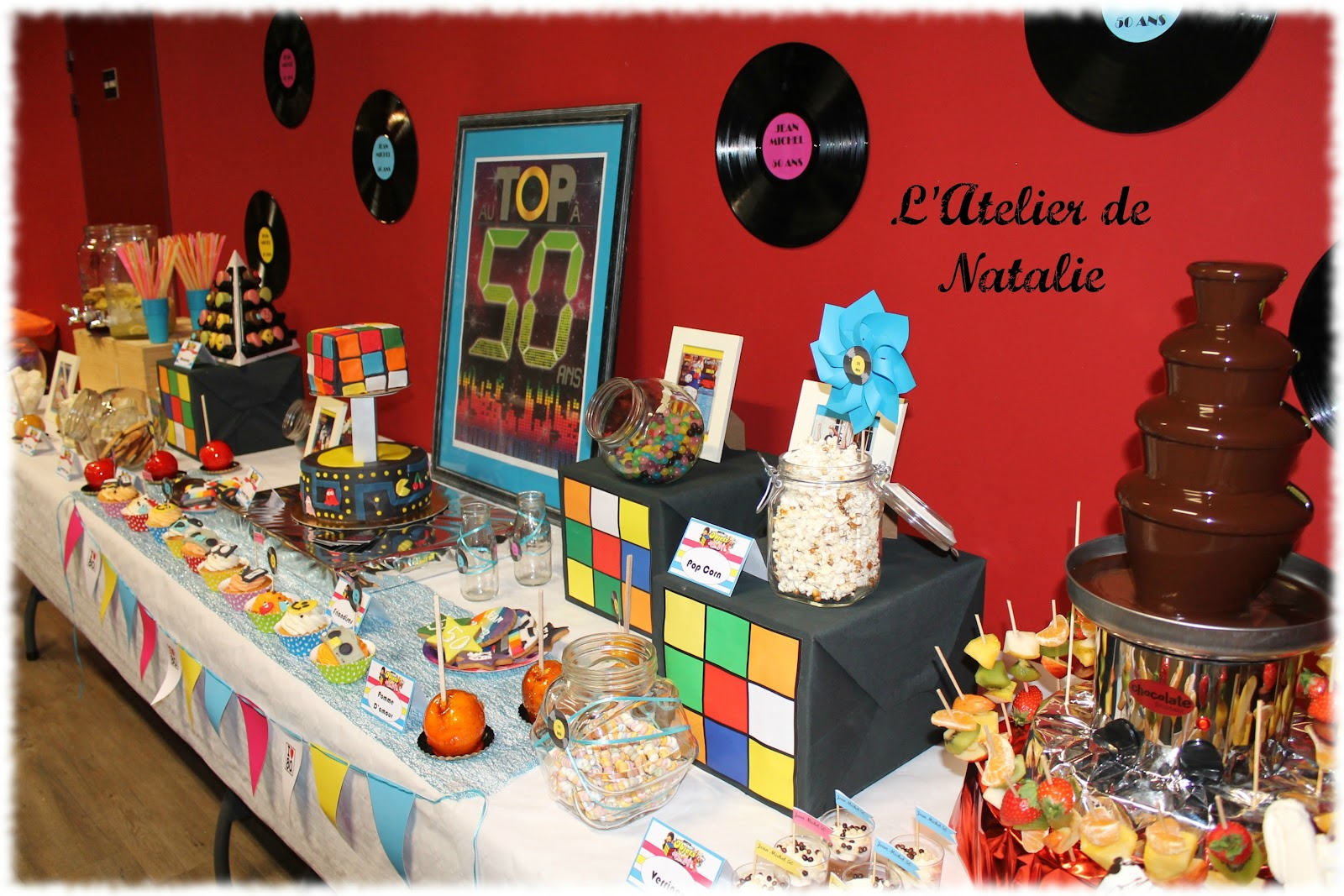L 39 atelier de natalie sweet table th me 80 39 s for Decoration annee 80