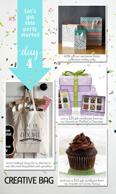 Creative Bag's new website launch - day 4 giveaways and daily specials