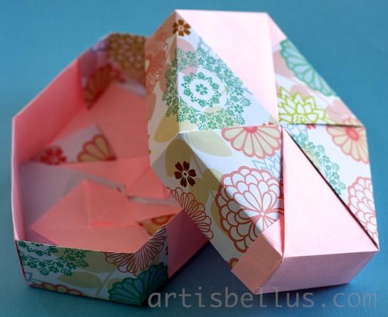 Tomoko Fuse Hexagon Box Instructions : Origami artis bellus march