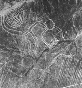 Fotografía realizada por Maria Reiche, una de las primeras arqueólogas en estudiar las líneas.