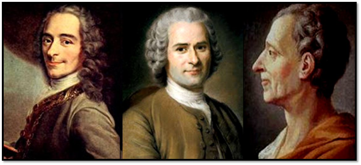 beliefs of voltaire rousseaum and montesquieu Home → sparknotes → philosophy study guides → discourse on inequality → context rousseau's later quarrel with voltaire montesquieu's conclusions.