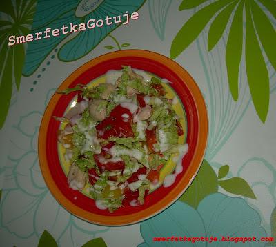 http://smerfetkagotuje.blogspot.com/2013/06/kolorowa-saatka-z-gotowana-piersia-z.html
