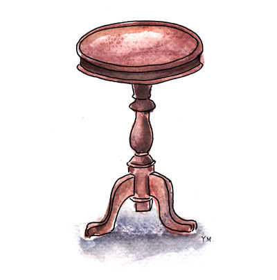 small table by Yukié Matsushita