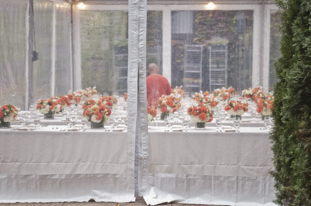Fall Foundry LIC Wedding dining tent