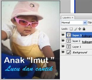 Beri efek-efek photoshop pada tulisan dengan menggunakan blending ...