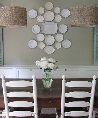 decoracion con platos