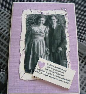 Werkelstübchen: Einladung für diamantene Hochzeit