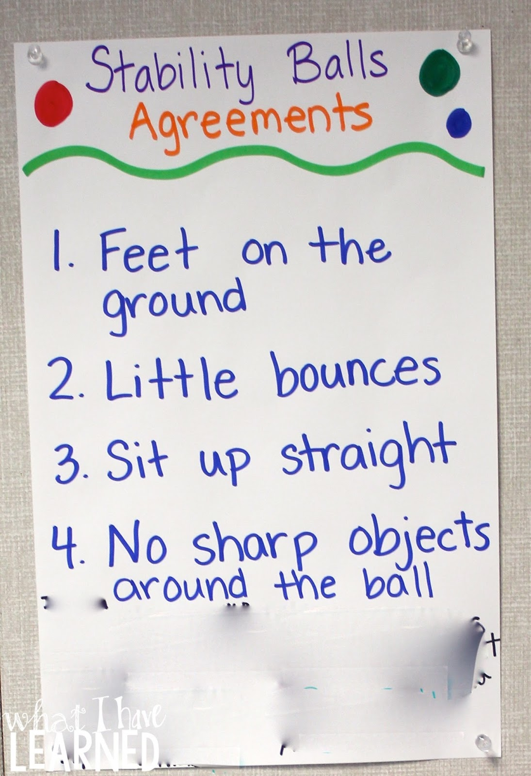 Stability Ball Agreements