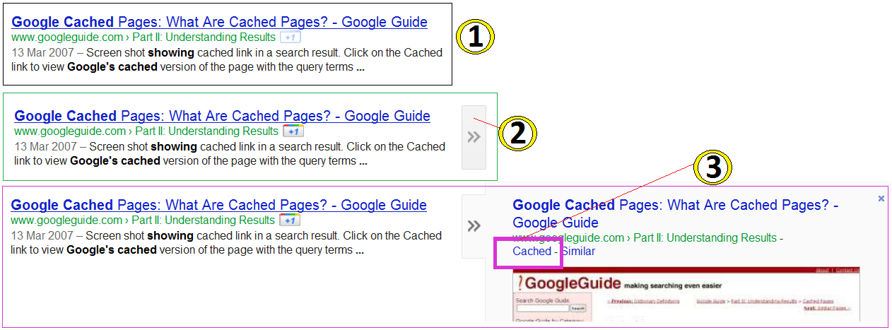 how to find google cached pages